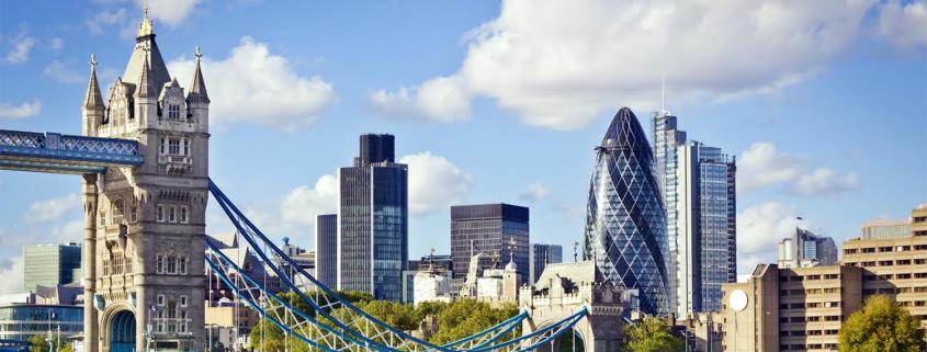 London skyline including london bridge