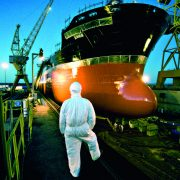 Antifouling paint protects the hull below the waterline