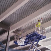 On site application of intumescent paint for steel