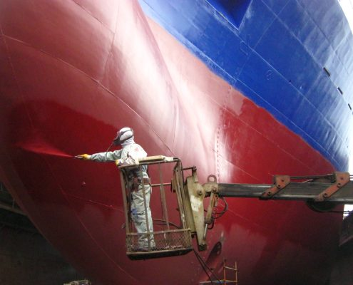 Commercial antifouling for the shipping industry