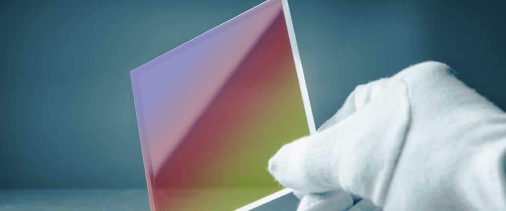 conductive coating on a piece of glass