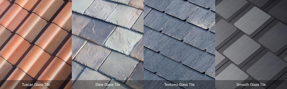 Tesla's Solar Roof tiles designs