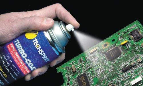 Non conductive coating spray