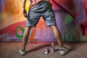 Anti graffiti coating