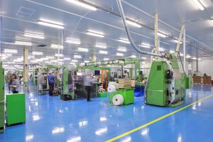 Chemical resistant coating protects factory floors from chemical spills