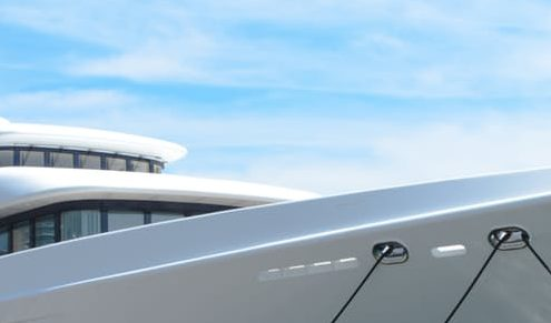 glossy yacht paint on boat hull