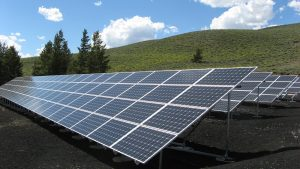 Solar panels applied with hydrophobic coating