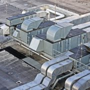 antimicrobial coating for ductwork applied in ductwork on a roof