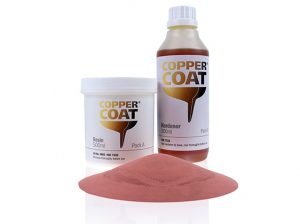 two bottles of coppercoat antifouling