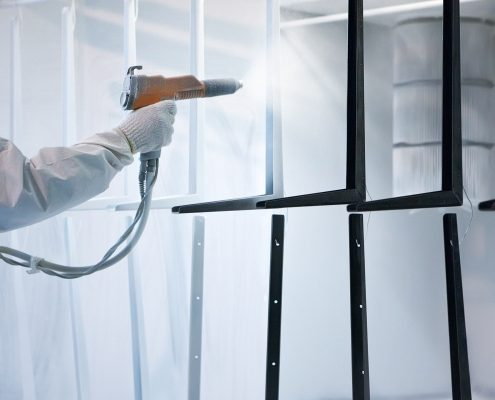 applying industrial coatings with a spray gun
