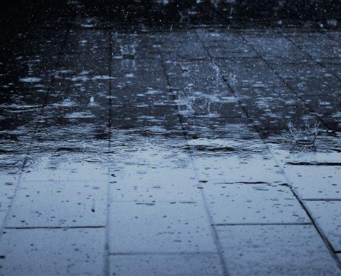 Concrete floor with waterproof paint