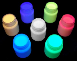 Glow in the dark paint comes in a range of neon colours