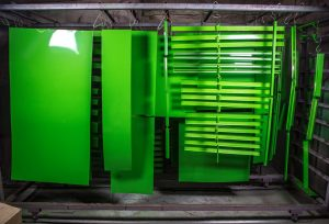 Powder coating provides an attractive finish, as well as long-lasting durability