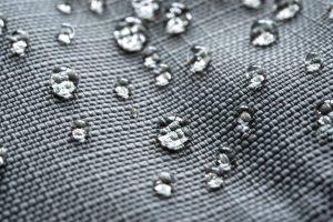 oleophobic coating on textile close up