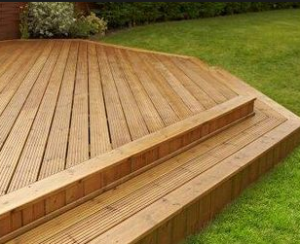 decking treated with decking oil