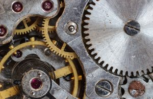 golden machine parts treated with titanium nitride coating