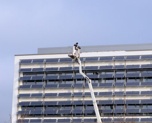 coating inspection on coasting on a block of flats