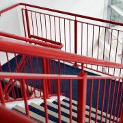 polyurethane paint for metal in stair railings.