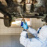 Underbody coatings prevent corrosion for the undercarriage of a vehicle