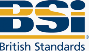 Logo of british standards institution who regulates swimming pool paint
