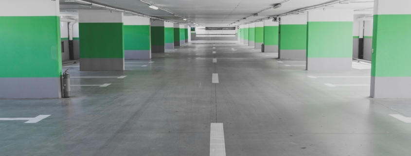 epoxy coating on a parking lot floor