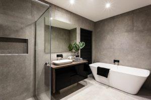 water resistant coating applied on bathroom walls