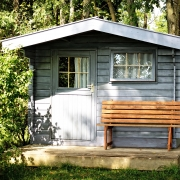 the best exterior paint for wood applied on a shed in grey