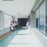 hospital corridor with non voc paint