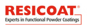 logo of resicoat the industrial powder coating brand by akzonobel
