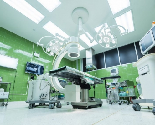medical coatings in a hospital environemnt
