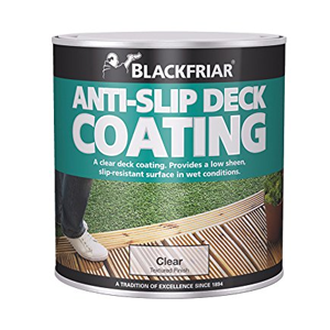 Non slip paint for wood decking