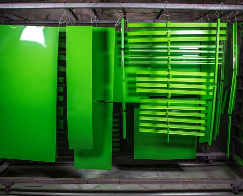 powder coating process step - curing