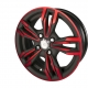 powder coating special effects in two colours on rims