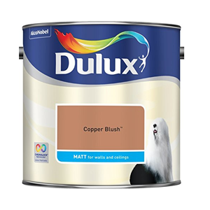 the best metallic paint for walls Dulux Copper Blush