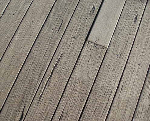 Update and protect with decking stain