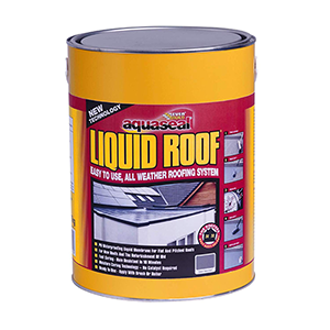 Aquaseal Liquid Roof 7kg, Set of 4 Slate Grey