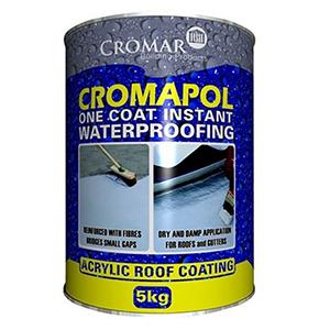 Cromapol Acrylic Waterproofing Coating Black 5 KG