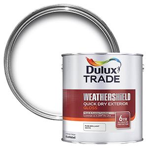 Dulux Trade Pure Wheathershield Gloss white 1L