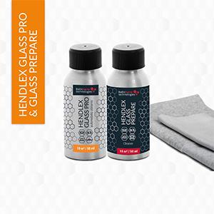 Hendlex Invisible Windscreen Hydrophobic Nano Coating Kit 2x 50ml