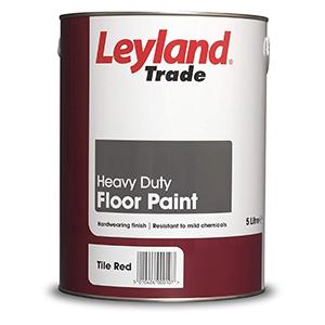 Leyland Trade Heavy Duty Floor Paint Tile Red 5 Litre indoor Polyurethane-Alkyd