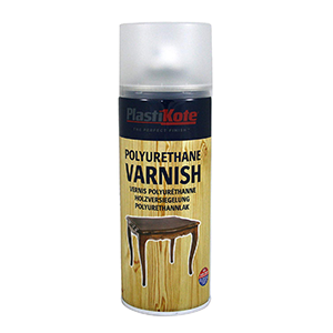 Plasti-Kote Polyurethane Clear Satin Varnish Spray
