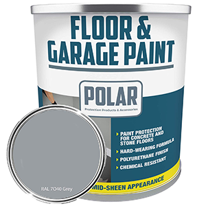 Polar Garage Floor Paint Grey 5 Light Grey indoor Polyurethane