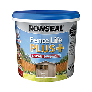 Ronseal Fence Life PLus+ Matt Warm Stone 5L
