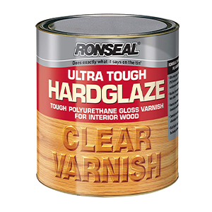 Ronseal Ultra Tough Hardglaze Internal Clear Gloss Varnish 250ml