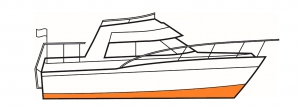 Below the waterline paints include primers and fouling control.