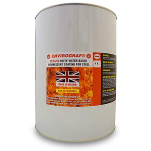 Envirograf Water Based Intumescent Fire Proof Paint for Steel & Aluminium - 1 Litre