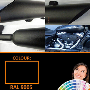 Polyster Powder Coating Paint RAL 9005 Black Matt 5kg