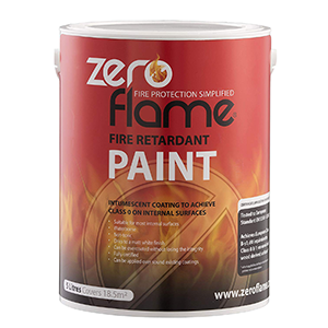 Zeroflame Fire Retardant Paint for wood and timber surfaces, interior