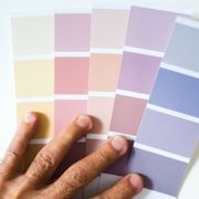When choosing what colour to paint a room, use the swatches and test pots.