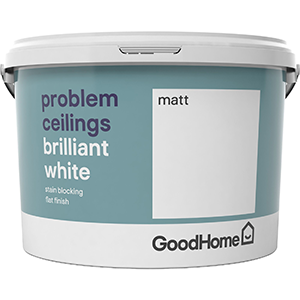 GoodHome Problem ceilings Brilliant white Matt Emulsion paint 2.5L